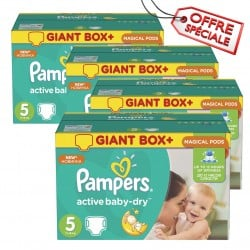 110 Couches Pampers Active Baby Dry taille 5