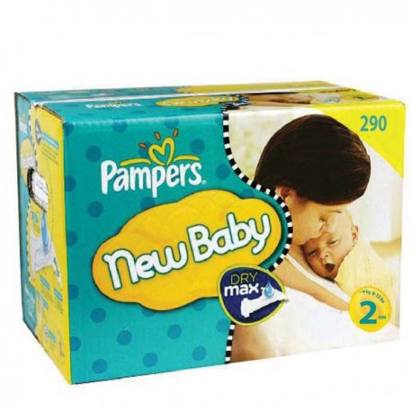 164 Couches Pampers New Baby Premium Protection taille 2 sur Sos Couches