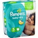 78 Couches Pampers Baby Dry taille 5 sur Sos Couches