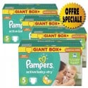 253 Couches Pampers Active Baby Dry taille 5 sur Sos Couches