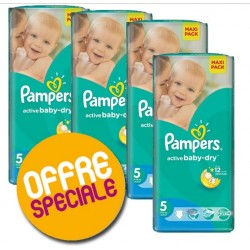 275 Couches Pampers Active Baby Dry taille 5
