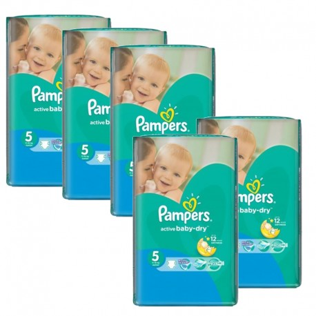 385 Couches Pampers Active Baby Dry taille 5 sur Sos Couches