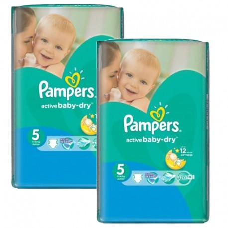 506 Couches Pampers Active Baby Dry taille 5 sur Sos Couches