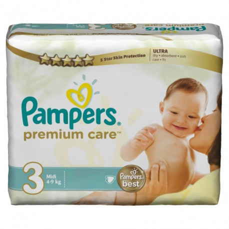 180 Couches Pampers Premium Care taille 3 sur Sos Couches