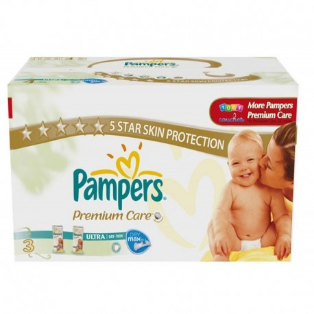 220 Couches Pampers Premium Care taille 3 sur Sos Couches
