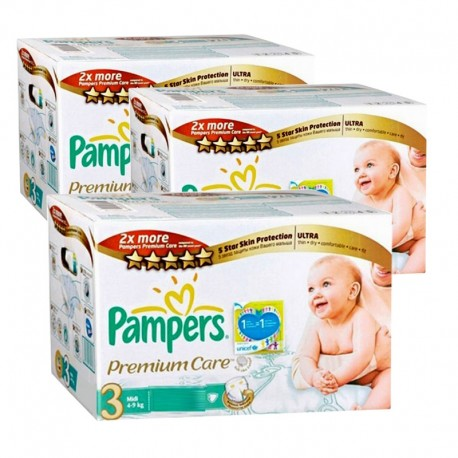 240 Couches Pampers Premium Care taille 3 sur Sos Couches