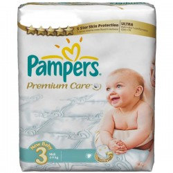 260 Couches Pampers Premium Care taille 3