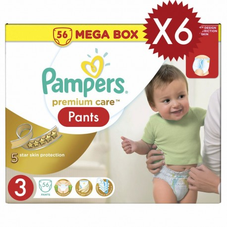 280 Couches Pampers Premium Care taille 3 sur Sos Couches