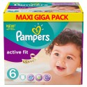 128 Couches Pampers Active Fit taille 6 sur Sos Couches