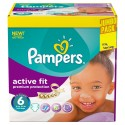 256 Couches Pampers Active Fit taille 6 sur Sos Couches