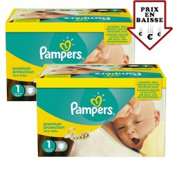 216 Couches Pampers New Baby Premium Protection taille 1