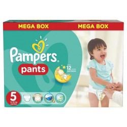128 Couches Pampers Baby Dry Pants taille 5