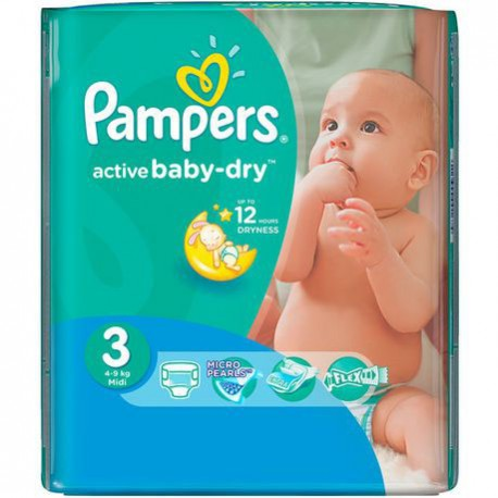 68 Couches Pampers Active Baby Dry taille 3 sur Sos Couches
