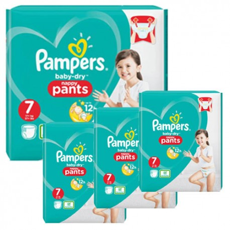 63 Couches Pampers Baby Dry Pants taille 7 sur Sos Couches