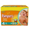 340 Couches Pampers Sleep & Play taille 4 sur Sos Couches