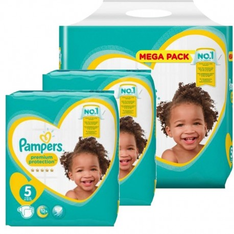 544 Couches Pampers New Baby Premium Protection taille 5 sur Sos Couches