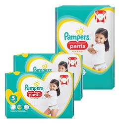 120 Couches Pampers Premium Protection Pants taille 5