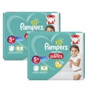 136 Couches Pampers Baby Dry Pants taille 5+ sur Sos Couches