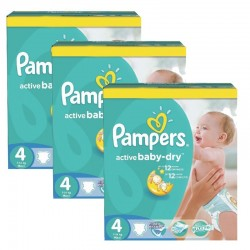 372 Couches Pampers Active Baby Dry taille 4