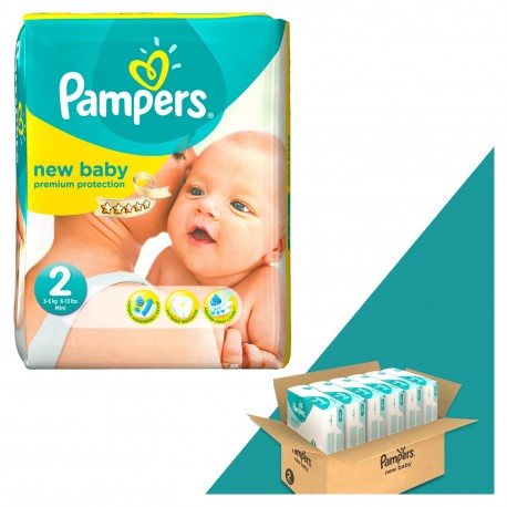 198 Couches Pampers New Baby Dry taille 2 sur Sos Couches