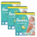 196 Couches Pampers Active Baby Dry taille 4 sur Sos Couches