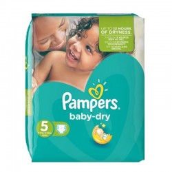 74 Couches Pampers Baby Dry taille 5