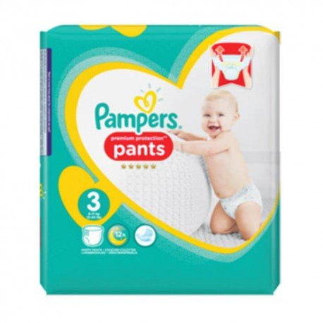 35 Couches Pampers Premium Protection Pants taille 3 sur Sos Couches