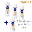 4 Deodorants Nivea Stress Protect - 4 au prix de 3 taille Pocket sur Sos Couches