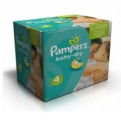300 Couches Pampers Baby Dry taille 4