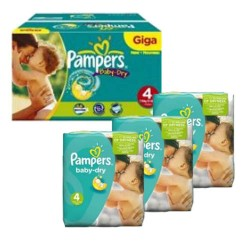 480 Couches Pampers Baby Dry taille 4