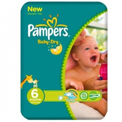 31 Couches de la marque Pampers Baby Dry taille 6 sur Sos Couches