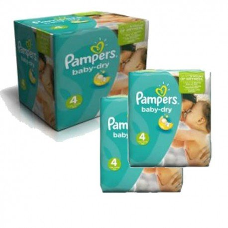 184 Couches Pampers Baby Dry taille 4 sur Sos Couches