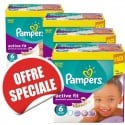 240 Couches Pampers Active Fit taille 6 sur Sos Couches