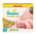 60 Couches Pampers Premium Care taille 5 sur Sos Couches