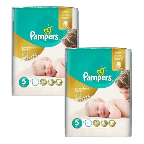 100 Couches Pampers Premium Care taille 5 sur Sos Couches