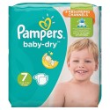 21 Couches Pampers Baby Dry taille 7 sur Sos Couches