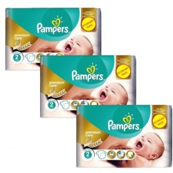 330 Couches Pampers New Baby Premium Care taille 2