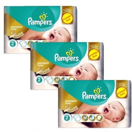 330 Couches Pampers New Baby Premium Care taille 2 sur Sos Couches