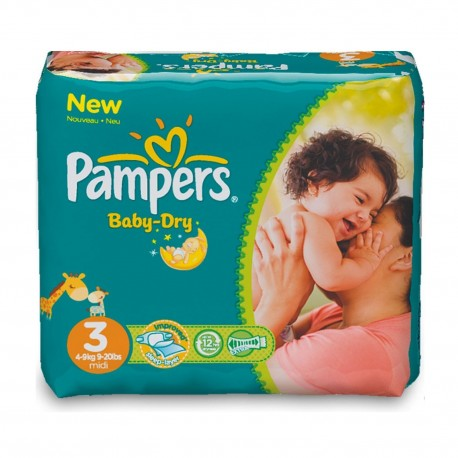 34 Couches Pampers Baby Dry taille 3 sur Sos Couches