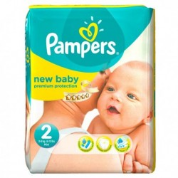 76 Couches Pampers New Baby Dry taille 2