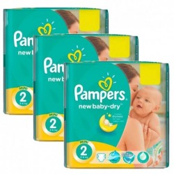 152 Couches Pampers New Baby Dry taille 2