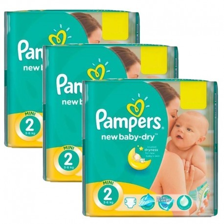 532 Couches Pampers New Baby Dry taille 2 sur Sos Couches