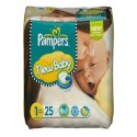 25 Couches Pampers New Baby taille 1 sur Sos Couches
