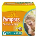 62 Couches Pampers Simply Dry taille 6 sur Sos Couches