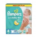 210 Couches Pampers Active Baby Dry taille 4 sur Sos Couches