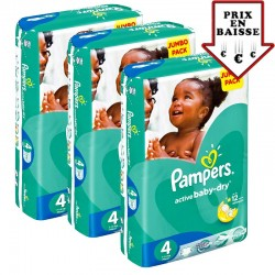 630 Couches Pampers Active Baby Dry taille 4