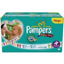 248 Couches Pampers Baby Dry taille 4+