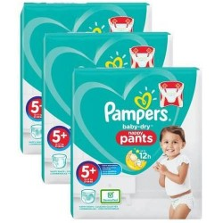 216 Couches Pampers Baby Dry Pants taille 5+