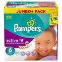 160 Couches Pampers Active Fit taille 6 sur Sos Couches