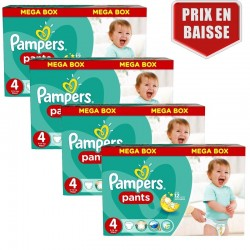 161 Couches Pampers Baby Dry Pants taille 4